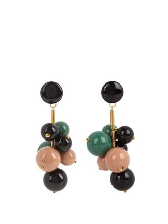 ball earrings green jewels
