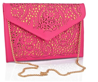 bag pink clutch envelope clutch gold chain mcm bags and purses handbag sholder bag girl