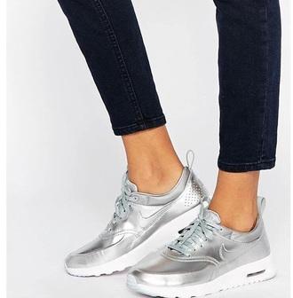 shoes nike silver white