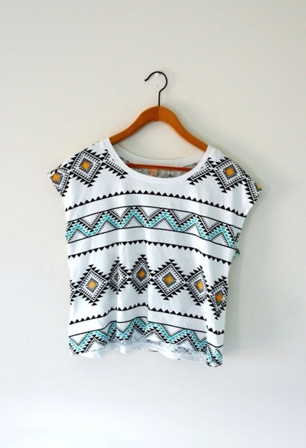 indian trib tribal pattern southwestern design triangle yellow tribal pattern aztec shirt