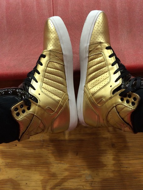shoes gold shoes style supra shoes