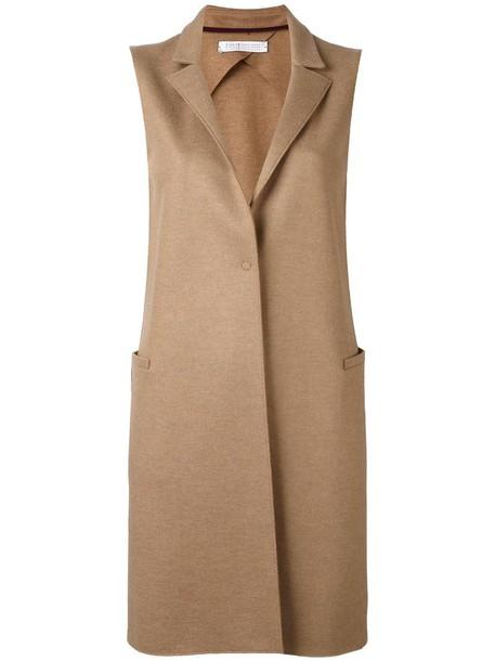 HARRIS WHARF LONDON coat sleeveless coat sleeveless women wool brown