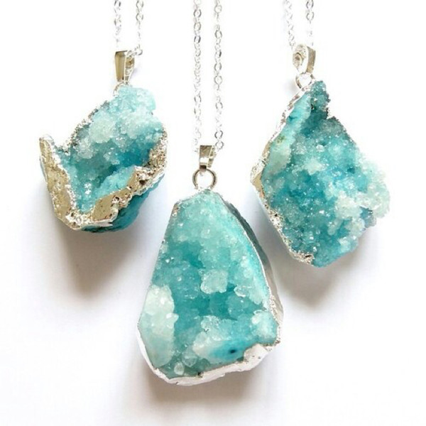 jewels crystal turquoise necklace jewelry necklaces