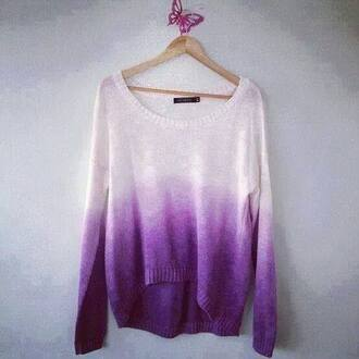 sweater dip dyed purple