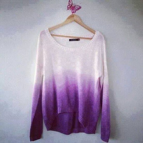 sweater purple dip dyed