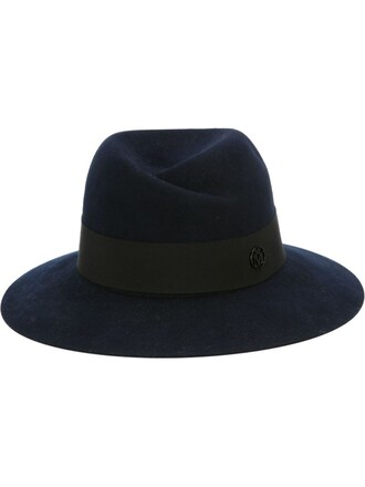 hat fedora blue