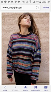 sweater,90's fashion,striped sweater,90s style