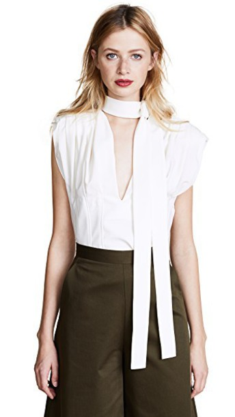 Jacquemus blouse pleated sleeveless top