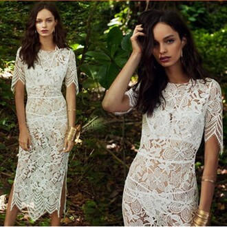 dress white lace dress white dress lace lace split dress half sleeve dresses crochet insert midi dress lace dress lace split dress white pencil dress for love lemons half sleeve dress bandag dress white lace split dress black dress lace insert white bandage dress