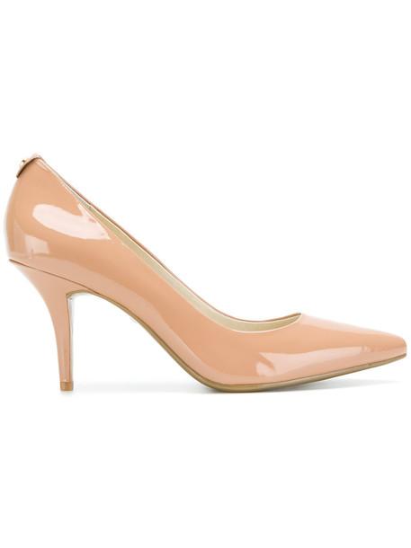 MICHAEL Michael Kors women pumps leather nude shoes