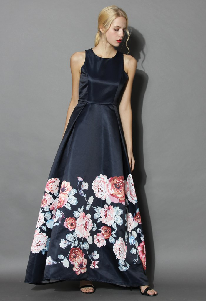 503c4eb86 Endless Blooming Rose Maxi Gown Dress - Retro, Indie and Unique Fashion