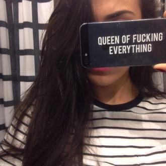 phone case iphone case iphone 5 case queen black orion carloto