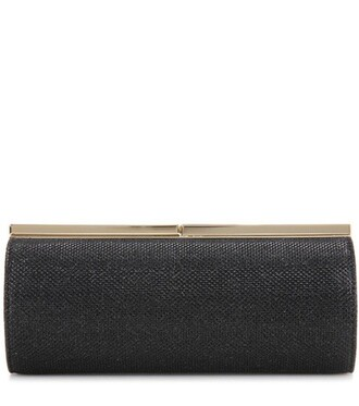 glitter clutch black bag