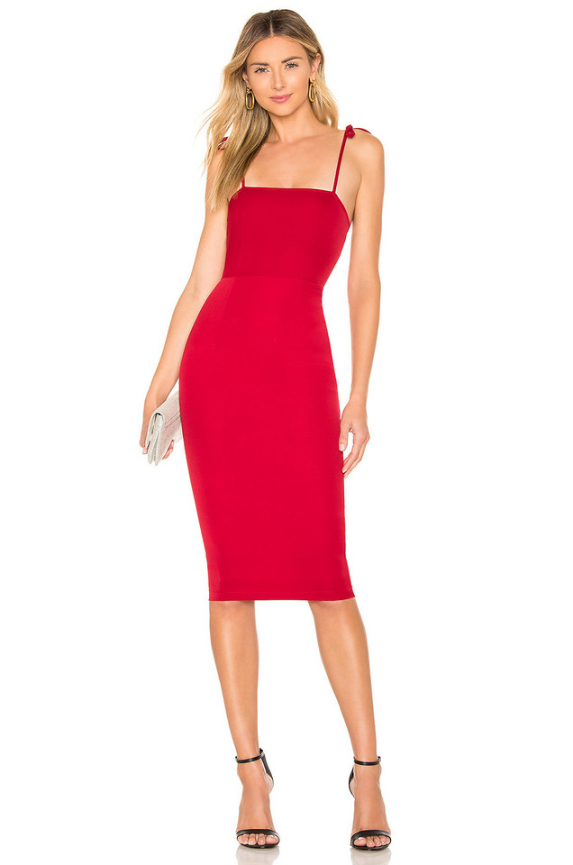 About Us Kendall Midi Dress in red