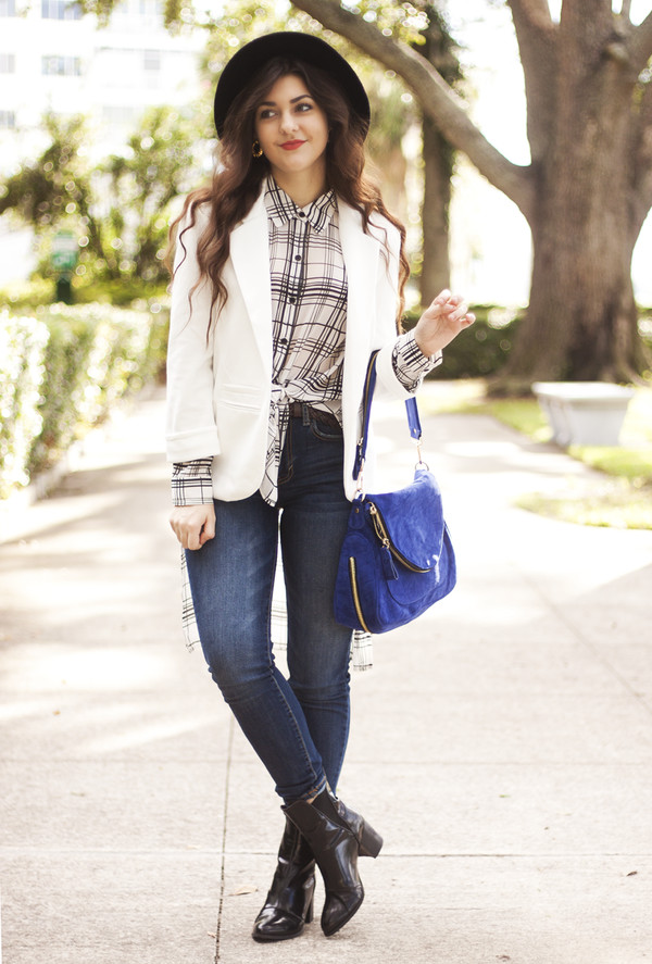 a walk in the park blogger top jacket bag