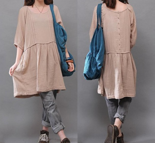 dress neck dress deep v-neck dress blue dress beige dress o-neck dress