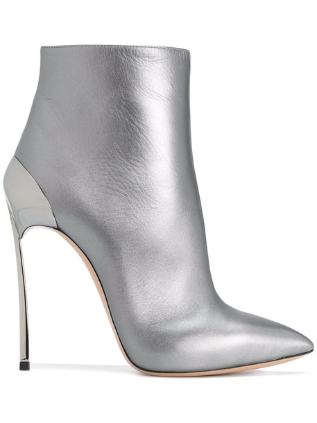 CASADEI women ankle boots leather grey shoes