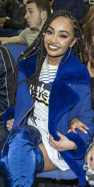 jacket blue leigh-anne pinnock blue jacket little mix celebrity style t-shirt zara