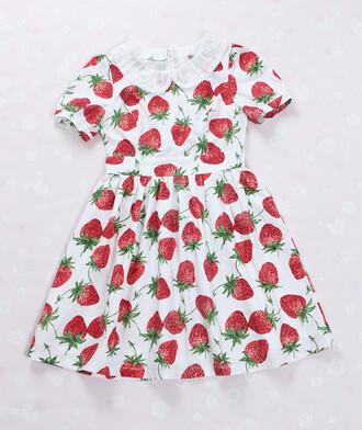 dress strawberry dress strawberry red red dress cute dress cute kawaii kawaii dress lolita sweet lolita print dress japan japanese alternative lovely adorable dress amazing