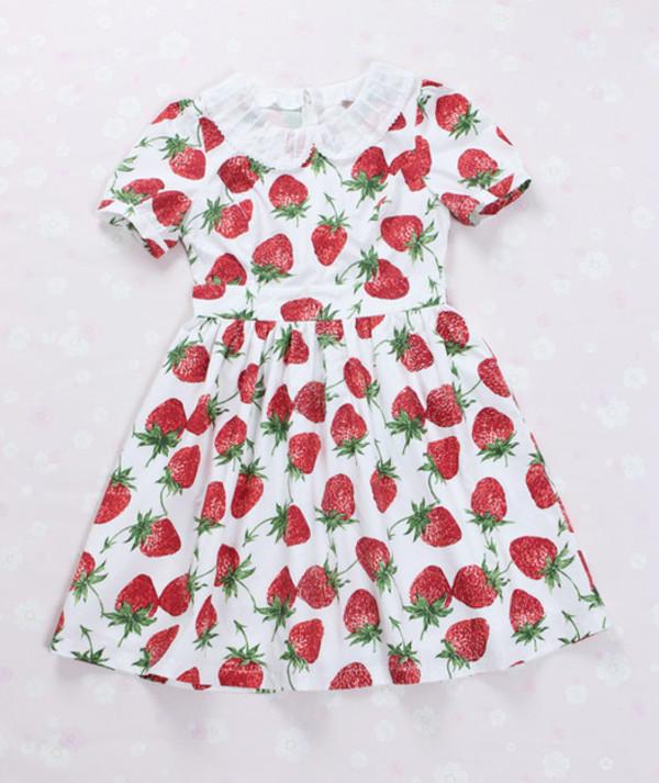 dress strawberry dress strawberry strawberry red red dress cute dress cute kawaii kawaii dress lolita lolita print dress japan japanese alternative lovely adorable dress amazing