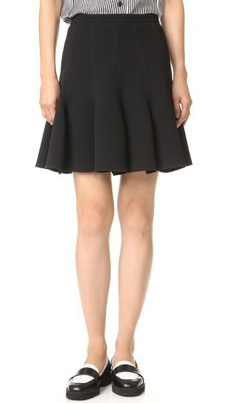 skirt pleated skirt pleated noir