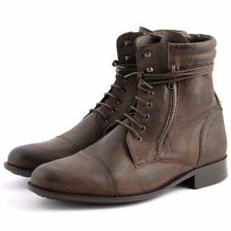 shoes leather brown leather boots fashion autumn boots