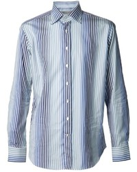 Nautica shirt long sleeved wrinkle resistant striped shirt for Where to buy a dress shirt