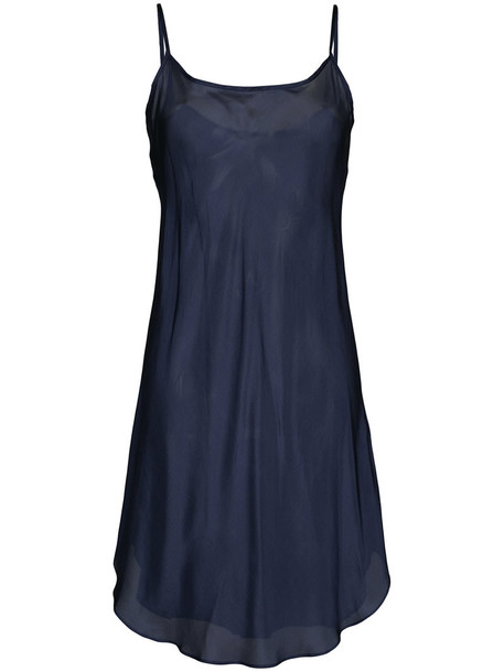 Lee Mathews dress slip dress women blue silk