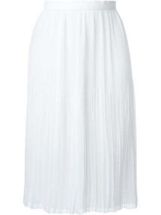 skirt pleated skirt pleated sheer white