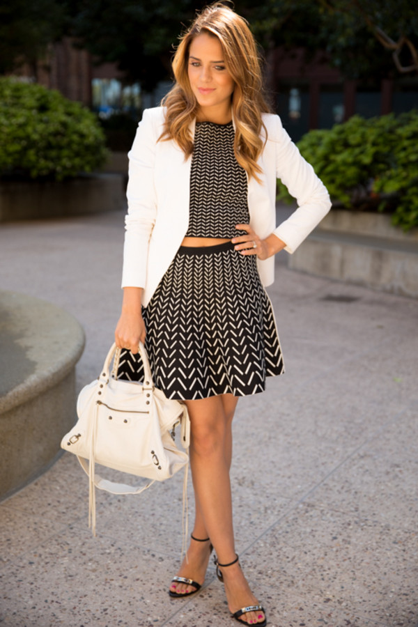 gal meets glam jacket t-shirt skirt bag