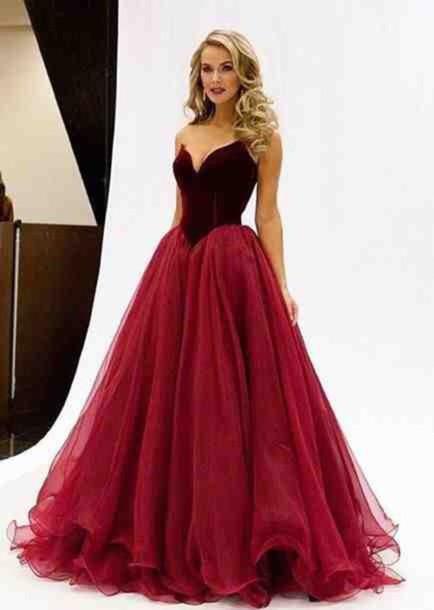 eef556f07a0c dress velvet prom wine red ball gown dress bodice princess tulle skirt  burgundy burgundy formal