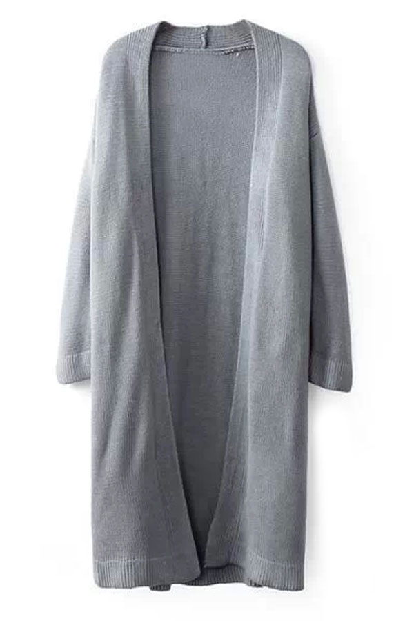 Chic Solid Oversized Longline Cardigan - OASAP.com
