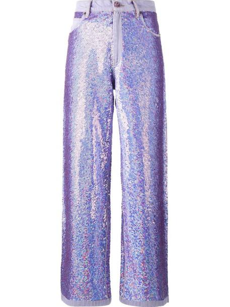 Ashish jeans purple pink