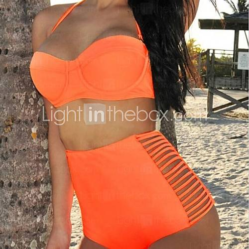 [USD $ 20.14] Women's Sexy Vintage High Waist Beach Bikini Swimwear Set