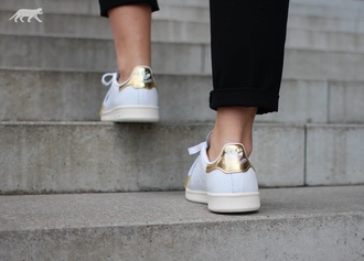 shoes snake leather stan smith gold white leather snake print adidas shoes