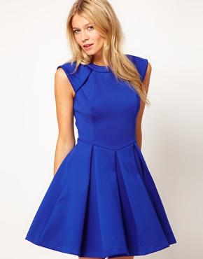 Ted Baker | Ted Baker Lantern Skirt Dress at ASOS