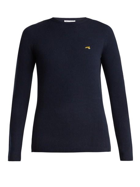 Bella Freud sweater dog navy