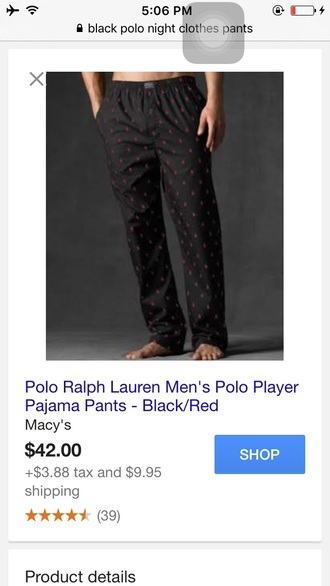 pants ralph lauren polo mens pants pajamas