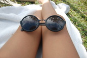 sunglasses,hippie,hipster,boho,round sunglasses,rock,indie,grundge,retro round sunglasses,round black sunglasses,black,black sunglasses,summer,fashion,eyewear,fashion eyewear,shadows,tumblr,john lennon,cute,trendy,summer outfits