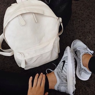 bag backpack white white backpack nike cool style