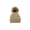 Big pompom knit beanie (5 colors)