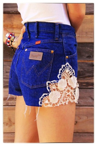 shorts levis shorts crochet crochet lace white t-shirt summer outfit wrangler high waisted short bralet lace