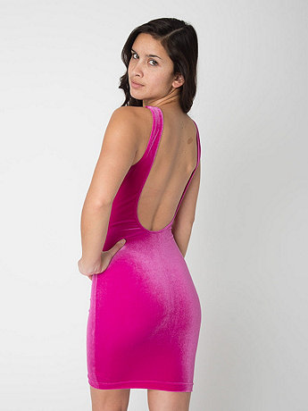 Velvet Tank Pencil Dress | American Apparel