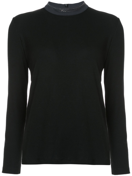 Fabiana Filippi jumper women spandex cotton black sweater