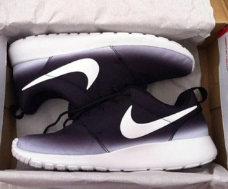 shoes nike shoes black nike ombre fashion
