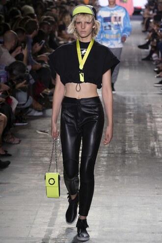 pants crop tops top cropped alexander wang ny fashion week 2016 runway