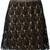 Ash - Jim A-line skirt - women - Cotton/Nylon/Rayon/Viscose - M, Black, Cotton/Nylon/Rayon/Viscose