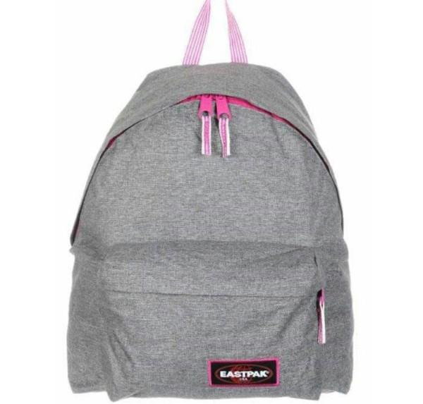 bag sac sac dos eastpak gris grey rose pink wheretoget. Black Bedroom Furniture Sets. Home Design Ideas