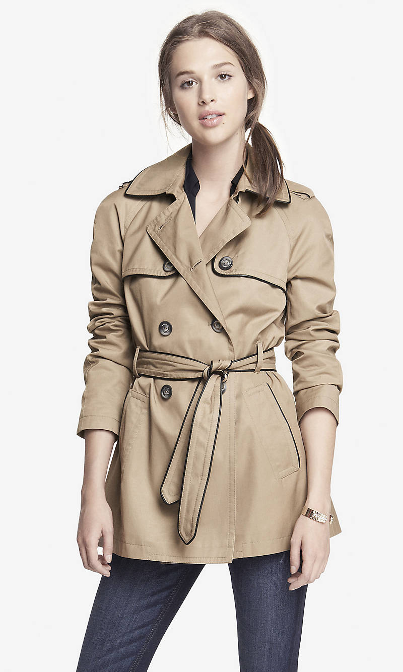 PIPED CLASSIC TRENCH COAT from EXPRESS