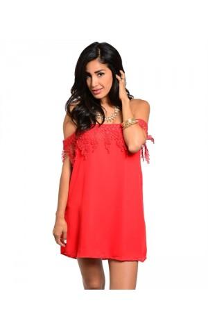 Chloe Dress in Red